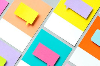 brightly coloured post it notes